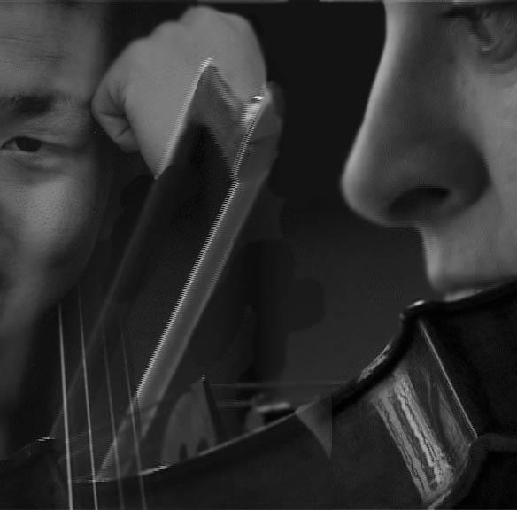 Double-ECO, pour violon, violoncelle et orchestre amplifié
