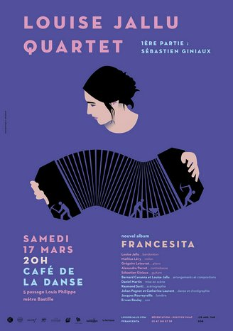 Tango-Delfino-Cavanna-Jallu Francesita - Louise Jallu  quartet
