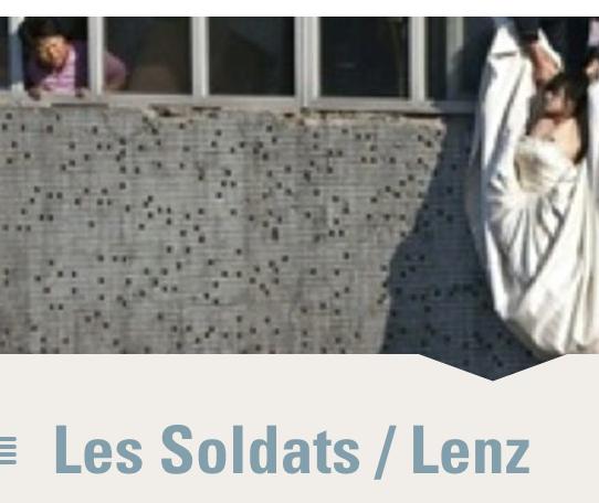 """""""Les Soldats"""" de Jacob Lenz Anne Laure Liegeois-musique Bernard Cavanna"""